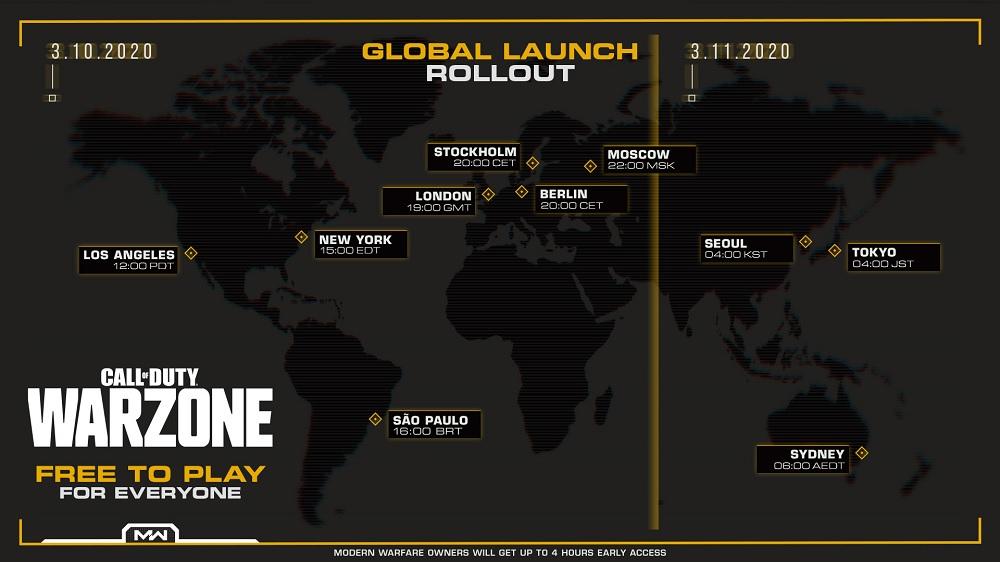 Call of Duty WARZONE - lanzamiento