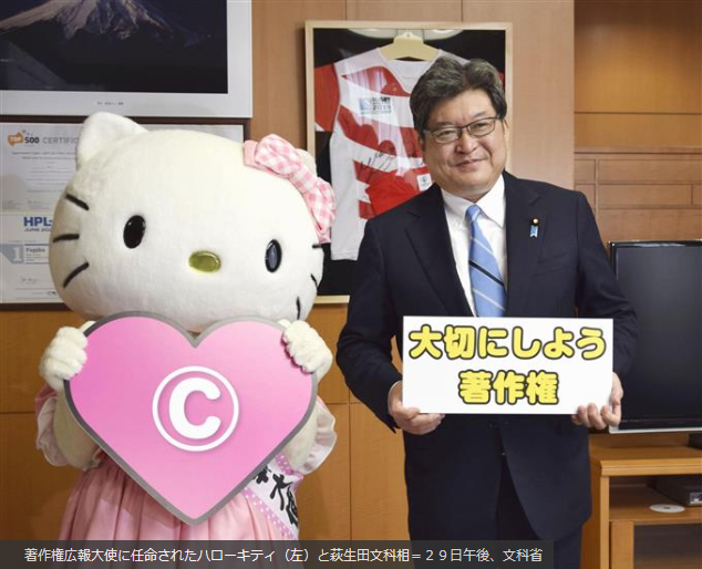 Hello Kitty, embajadora de Copyright