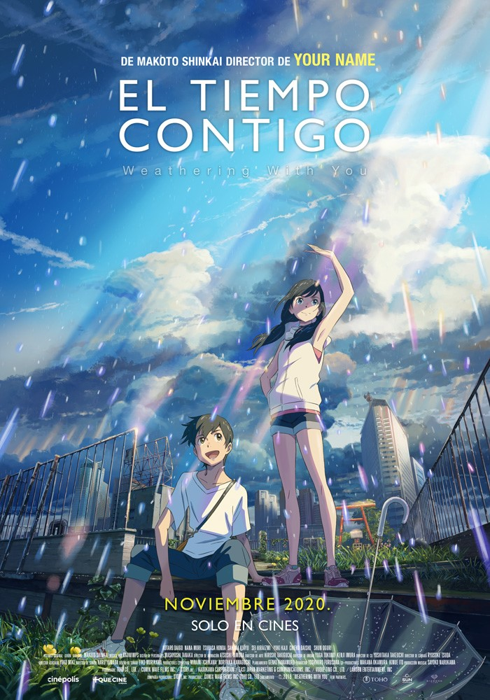 El Tiempo Contigo es la película más reciente de Makoto Shinkai