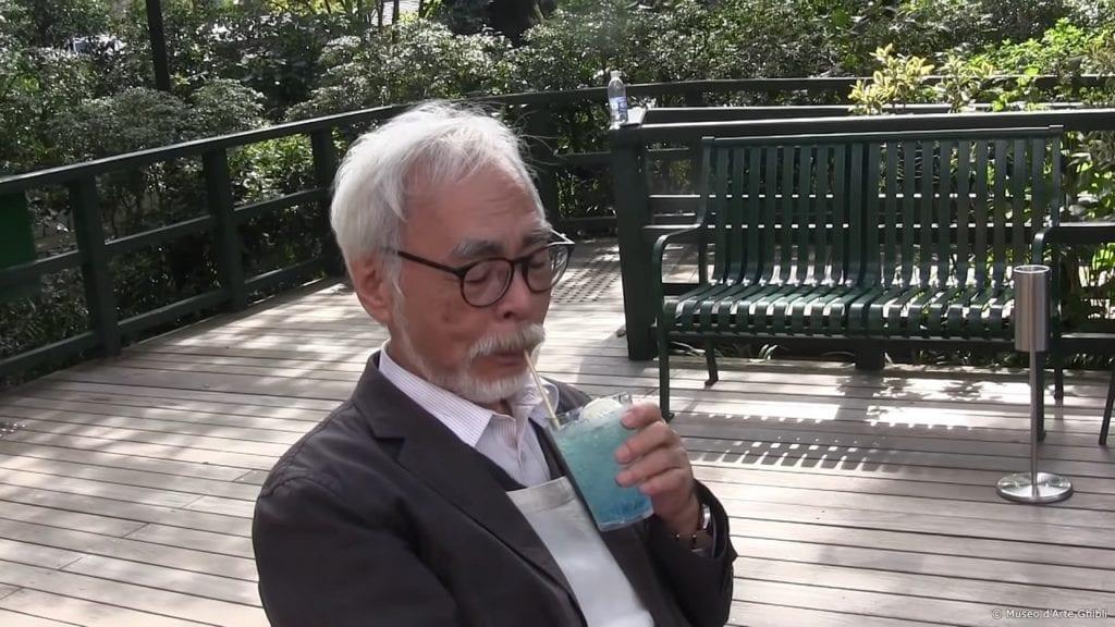 Hayao Miyazaki en el Museo Ghibli