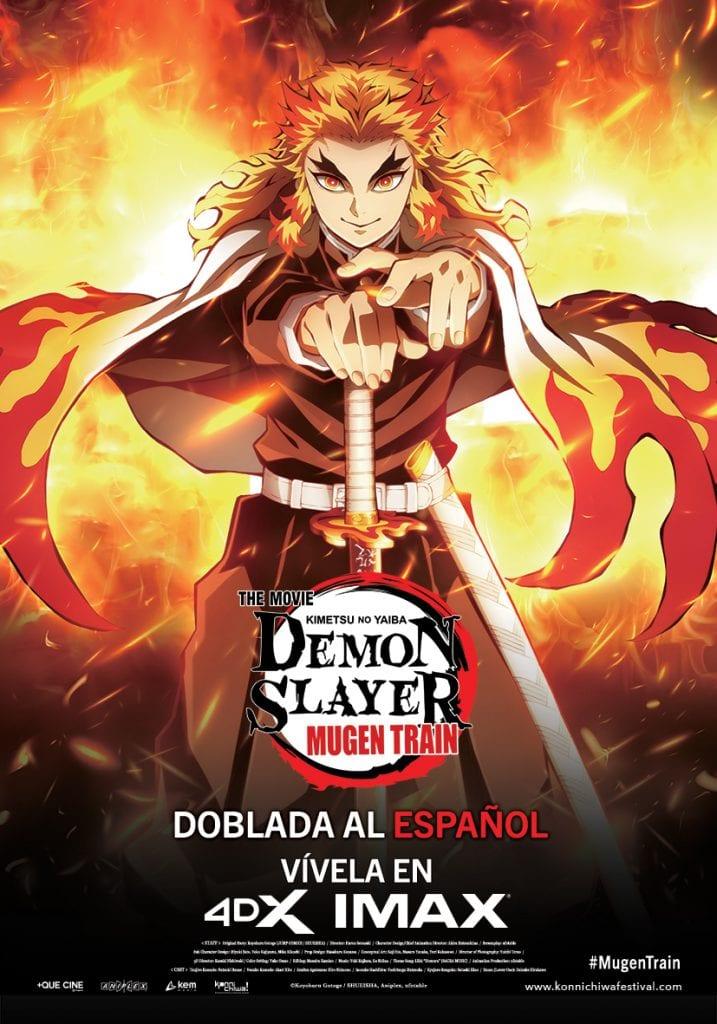 Demon Slayer: Kimetsu no Yaiba -  Mugen Train llega en IMAX, 4DX y doblada al español